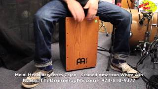 Meinl Headliner Series Cajon - Stained American White Ash - The Drum Shop North Shore
