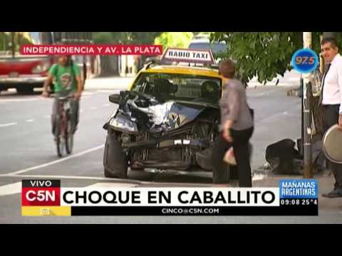 C5N - Tránsito: Choque en Caballito