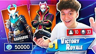 1 WIN = ALL *NEW* SEASON 5 SKINS FOR LITTLE BROTHER (Fortnite Free Skin Challenge)