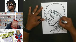 How To Draw a Caricature of Chief Keef