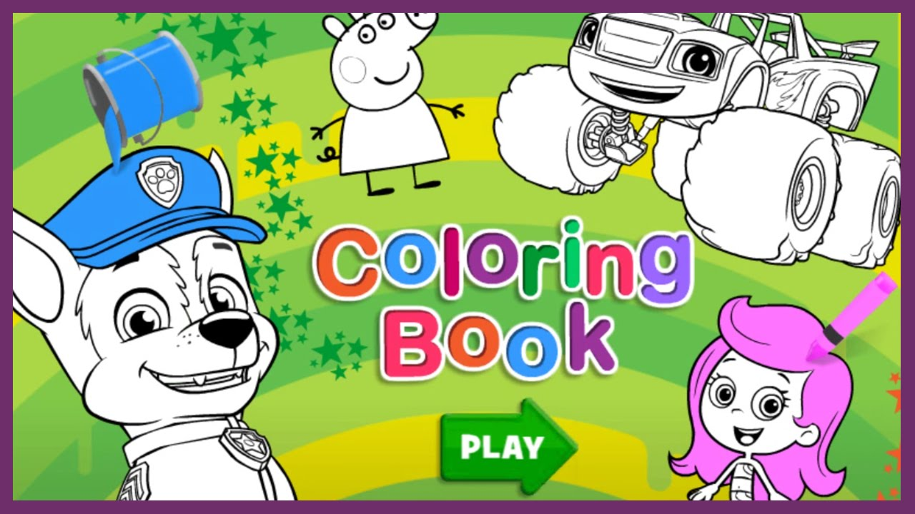 Nick Jr Coloring Book - Paw Patrol, Dora and Friends, Wallykazam ...