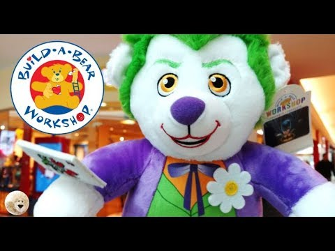 c91730505f0 STUFFING Build a Bear JOKER Teddy Bear Doll Video In Store Build-a-Bear