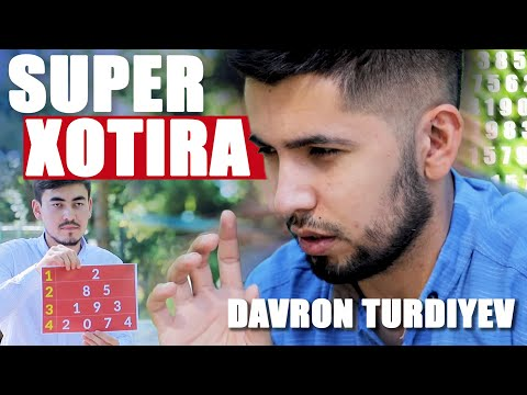 Super xotira egasi Davron Turdiyev Bu hammaning qo'lidan keladi
