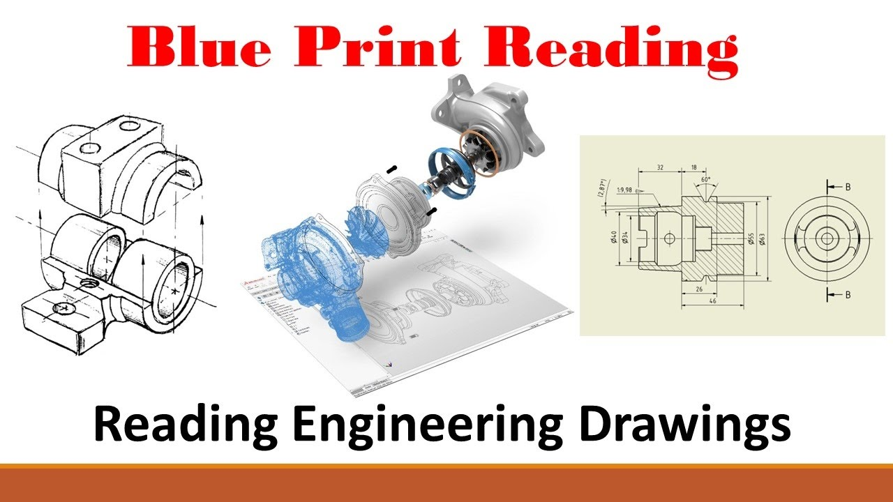 hight resolution of the basics of reading engineering drawings