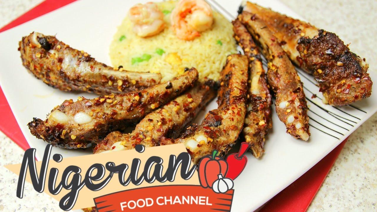 Grilled pork ribs recipe nigerian food channel youtube grilled pork ribs recipe nigerian food channel forumfinder Images