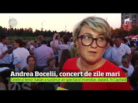 Andrea Bocelli, concert de zile mari