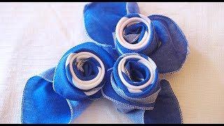 Розы из Салфетки. Украшение Праздничного Стола