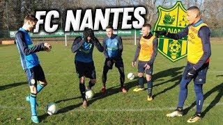 DÉFIS AVEC 4 JOUEURS DU FC NANTES