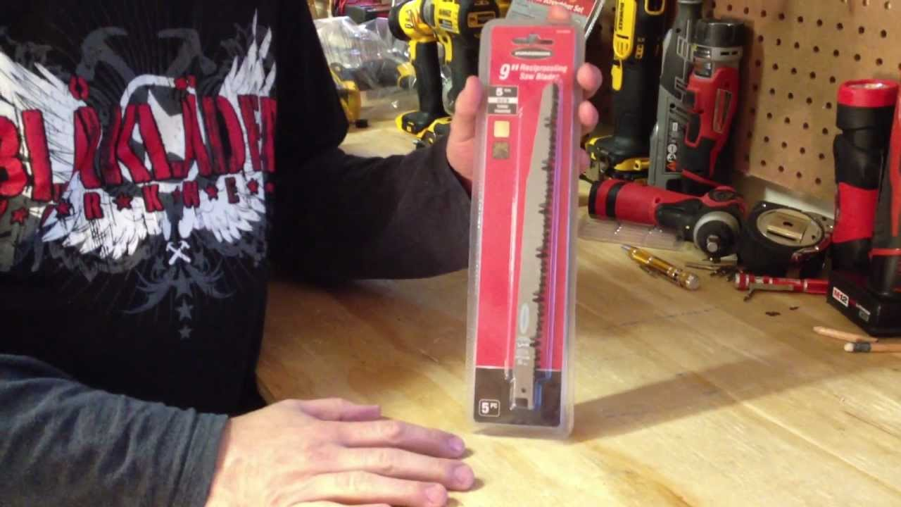 "Harbor Freight 9"" Reciprocating Saw Pruning Blades - YouTube"