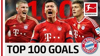 Top 100 Best Goals FC Bayern München - Vote for Lewandowski, Kroos, Müller & Co.