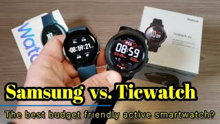 Samsung Galaxy Watch Active vs. Ticwatch E2 - A battle of the budget friendly active smartwatches!