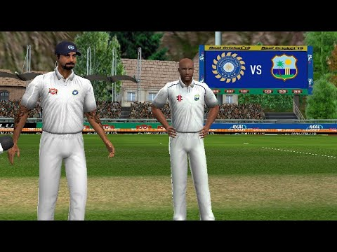 Day 1 - 1st Test - India Vs West Indies Full Match Highlights Prediction Real Cricket 19 Match