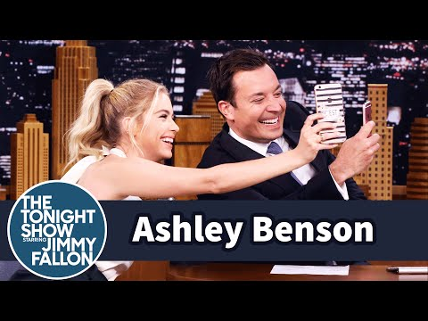 Ashley Benson and Jimmy Snapchat Simultaneously