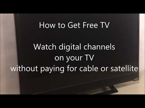 How to Get Free TV Watch digital channels without paying cab