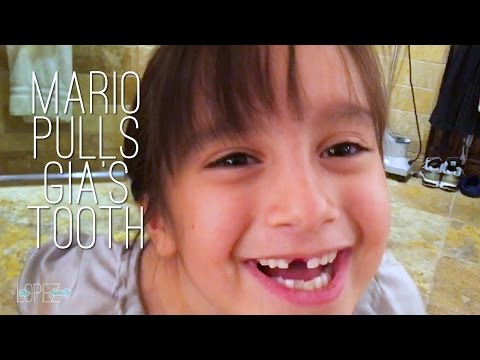 Mario Lopez Pulls His Daughter Gia's Tooth: VLOG