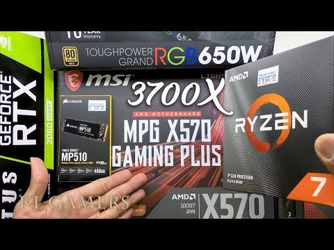 AMD Ryzen 7 3700X Msi MPG X570 GAMING PLUS Hyper X RTX 2060 SUPER Cooler Master MasterBox Pro 5 RGB