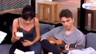 NATALIA componiendo y DAMION le ayuda con la guitarra // OT 18