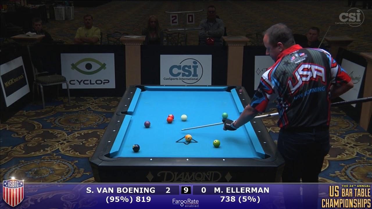 US Bar Table Championships Ball Shane Van Boening Vs Mitch - Diamond bar table
