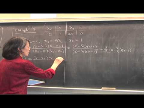 CMPSC/Math 451--Jan 23, 2015. Polynomial interpolation, Lagrange form, Wen Shen