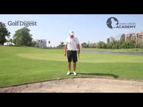 Dubai Creek Golf Academy Tutorial - Awkward Bunker Shot by Craig Waddell