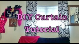 Quick & Simple Elegant Curtain Tutorial | D.i.y.