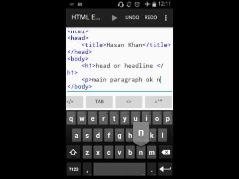 HTML Mobile Tutorial In Bangla By Abid #p#1