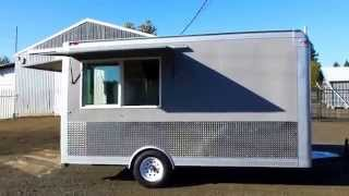 (outside)  Food Concession Trailer Vending Food Cart Kitchen