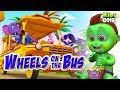 Green Kiddo Watching Wheels On the Bus  Funny videos for Kids  Kidsone