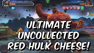 Ultimate Uncollected Red Hulk Cheese Method! - Easily Defeat Pro Tip - Marvel Contest Of Champions