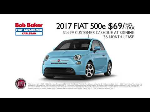 Bob Baker Fiat 500e Battery Electric 69 Per Month Lease Youtube