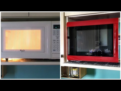 Can this microwave be saved? Bye bye fire hazard, hello flashy red microwave!