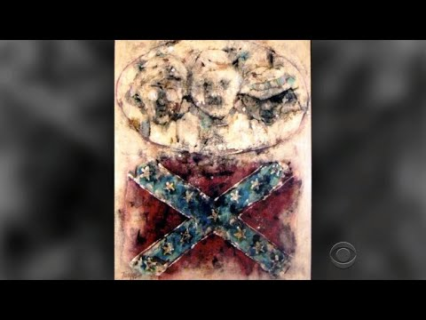 Thumbnail: Confederate flag paintings: A cross between two opposite ends