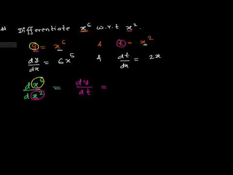 How to Differentiate One function With Respect to  Another - Derivative Calculus-1