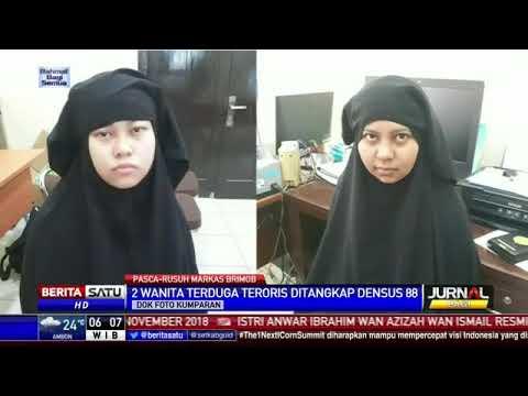 2 Wanita yang Berusaha Masuk ke Mako Brimob Ditangkap