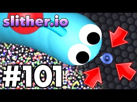 BIGGEST SNAKE Vs SMALLEST SNAKE TROLLING!!  Slitherio Top Player  Slitherio Part 101