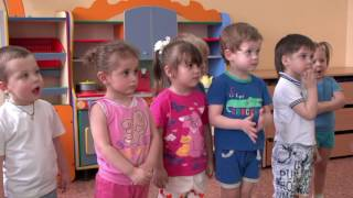 Физкультурное занятие в первой младшей группе