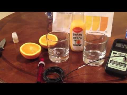 Kangen Water: Orange Juice ORP Test