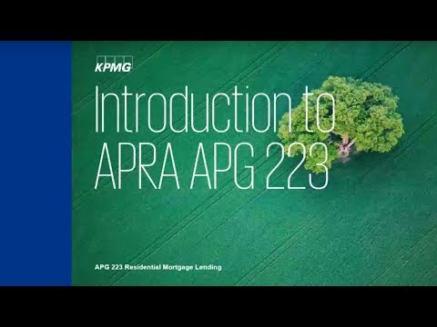 Introduction to APRA PG 223 Residential Mortgage Lending