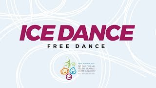 Ice Dance Free Dance | ISU European Figure Skating Championships | #EuroFigure