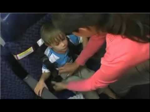 Installing a CARES Child Safety Device on an Airplane - YouTube