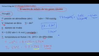 Ecuación de estado de los gases ideales