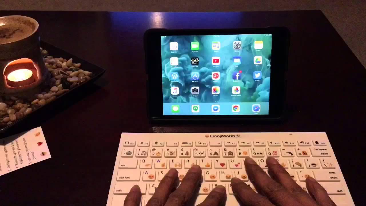 Emojiworks Emoji Keyboard Bluetooth Wireless For Mac Pc Erapod Iphone Ipad Ios