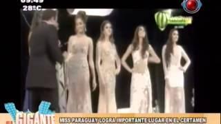 Miss Paraguay 2013 y 2da.Princesa del Reinado Internacional del Cafe 2014 en el Gigante de la Mañana