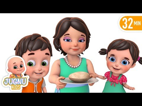 Mummy Ki Roti Gol Gol - Children's popular hindi nursery rhymes and baby song by jugnu kids