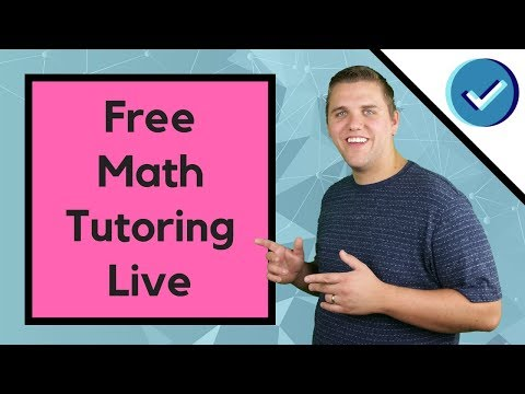 Free Math Tutoring For Everyone Right Now - Ask Questions In Live Chat