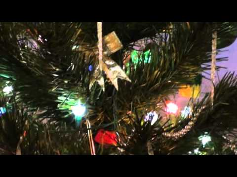 Petal reflector Christmas lights on tree. - YouTube