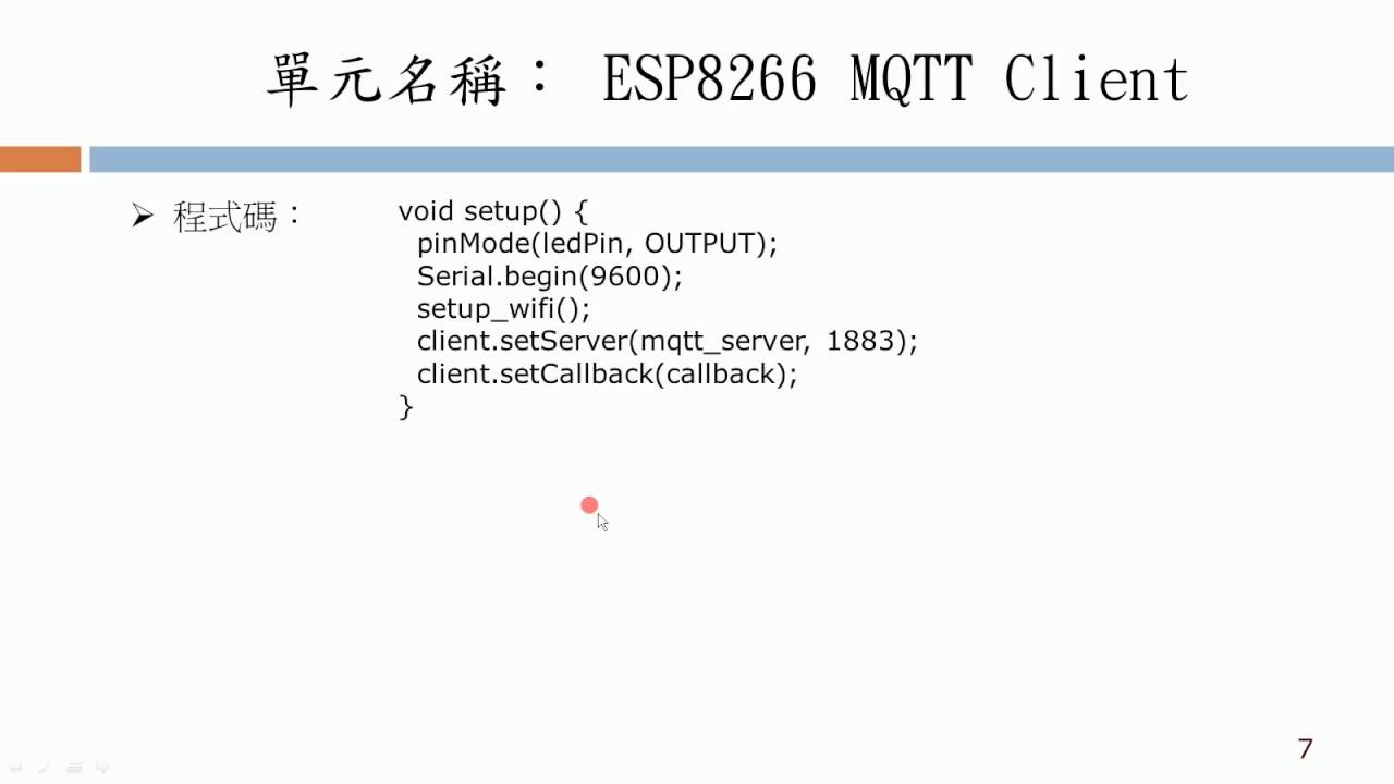 30 ESP8266 MQTT Client