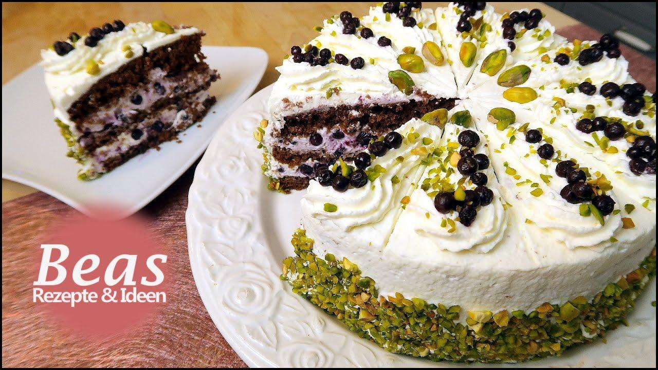 Frische Waldheidelbeeren Torte Rezept Mit Pistazien Lecker