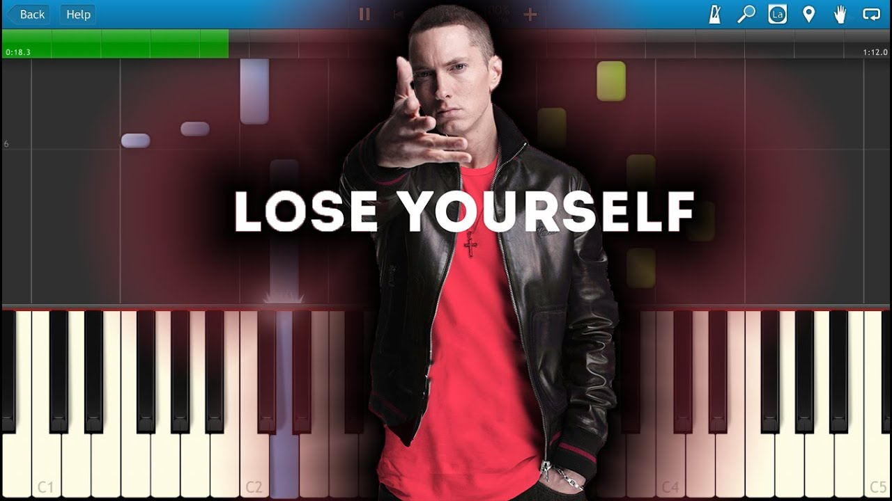 how to play lose yourself on piano