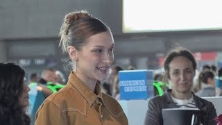 EXCLUSIVE : Bella Hadid at the airport leaving Cannes